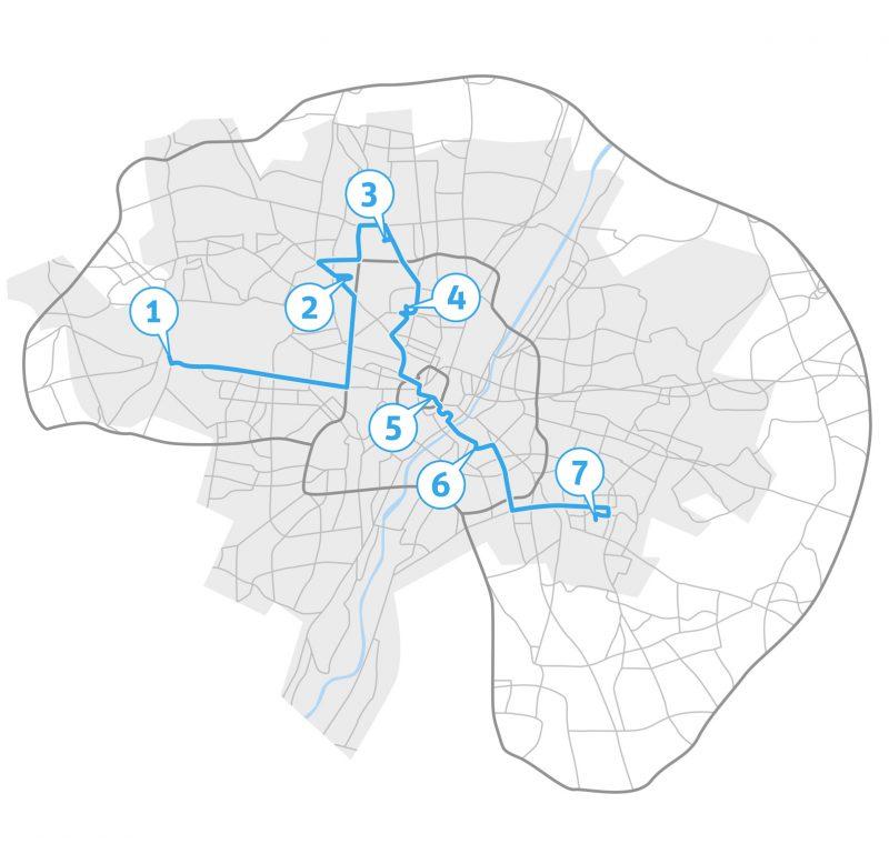 Infografiken für Stadt Bauwelt – Architektur Magazin // Themen: demografischer Wandel, Städtebau, Stadtentwicklung, Stadtkultur // Thema: München